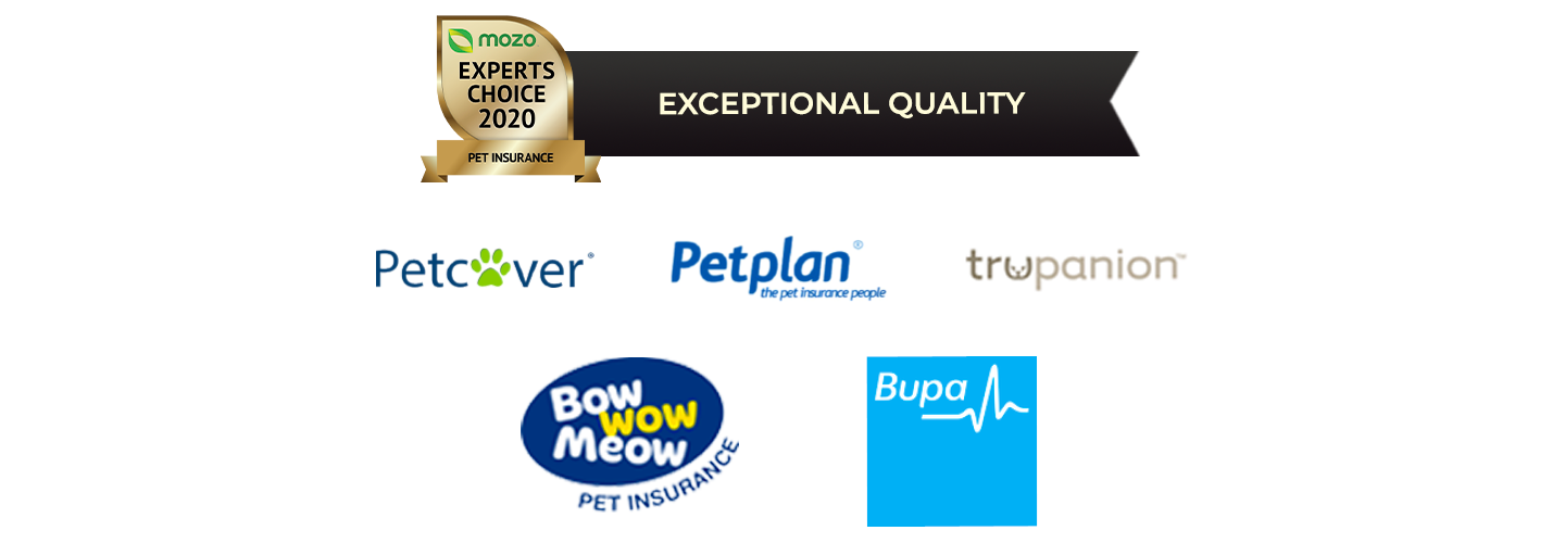 Pet insurance exceptional quality award winners