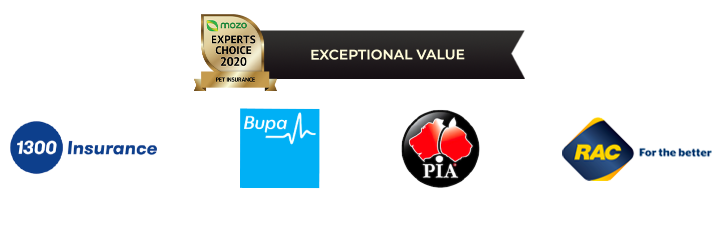 Pet insurance exceptional value award winners