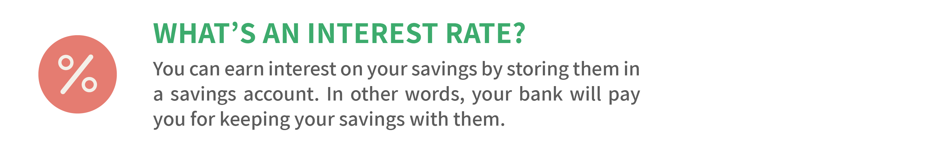 What's an interest rate?