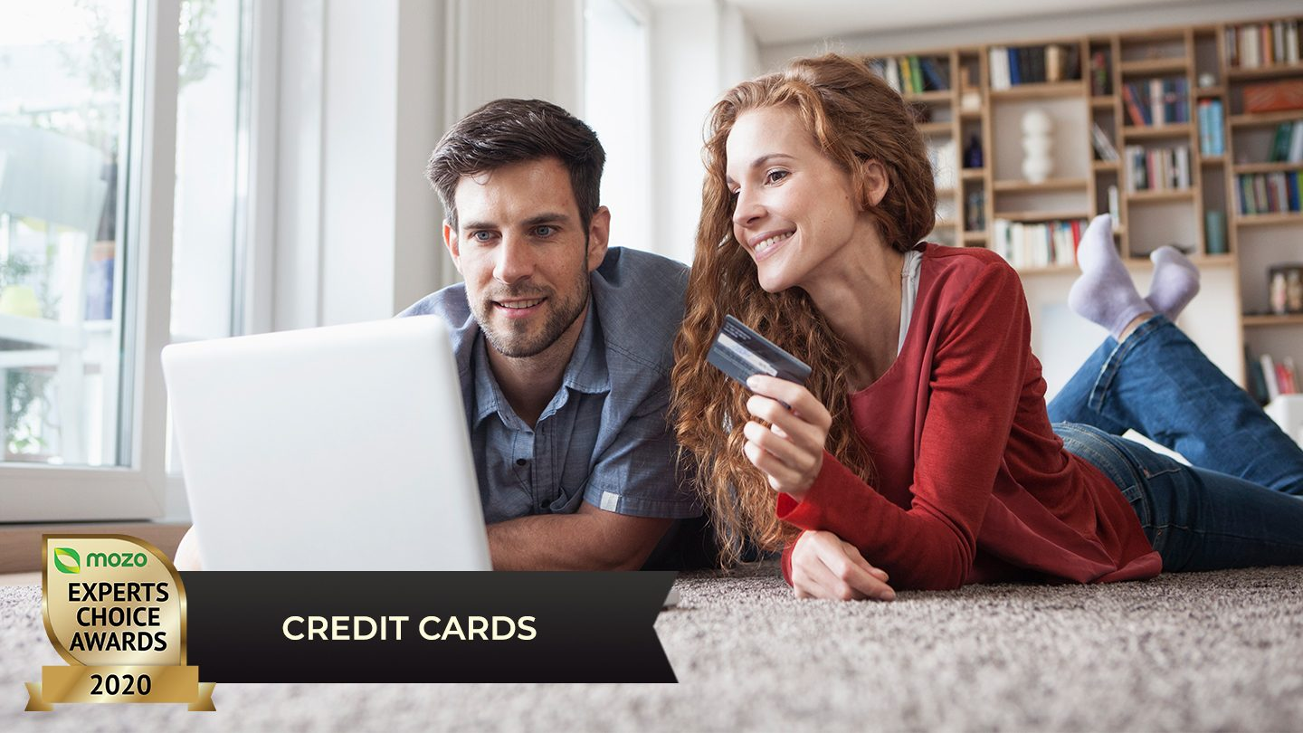 Young couple with credit card