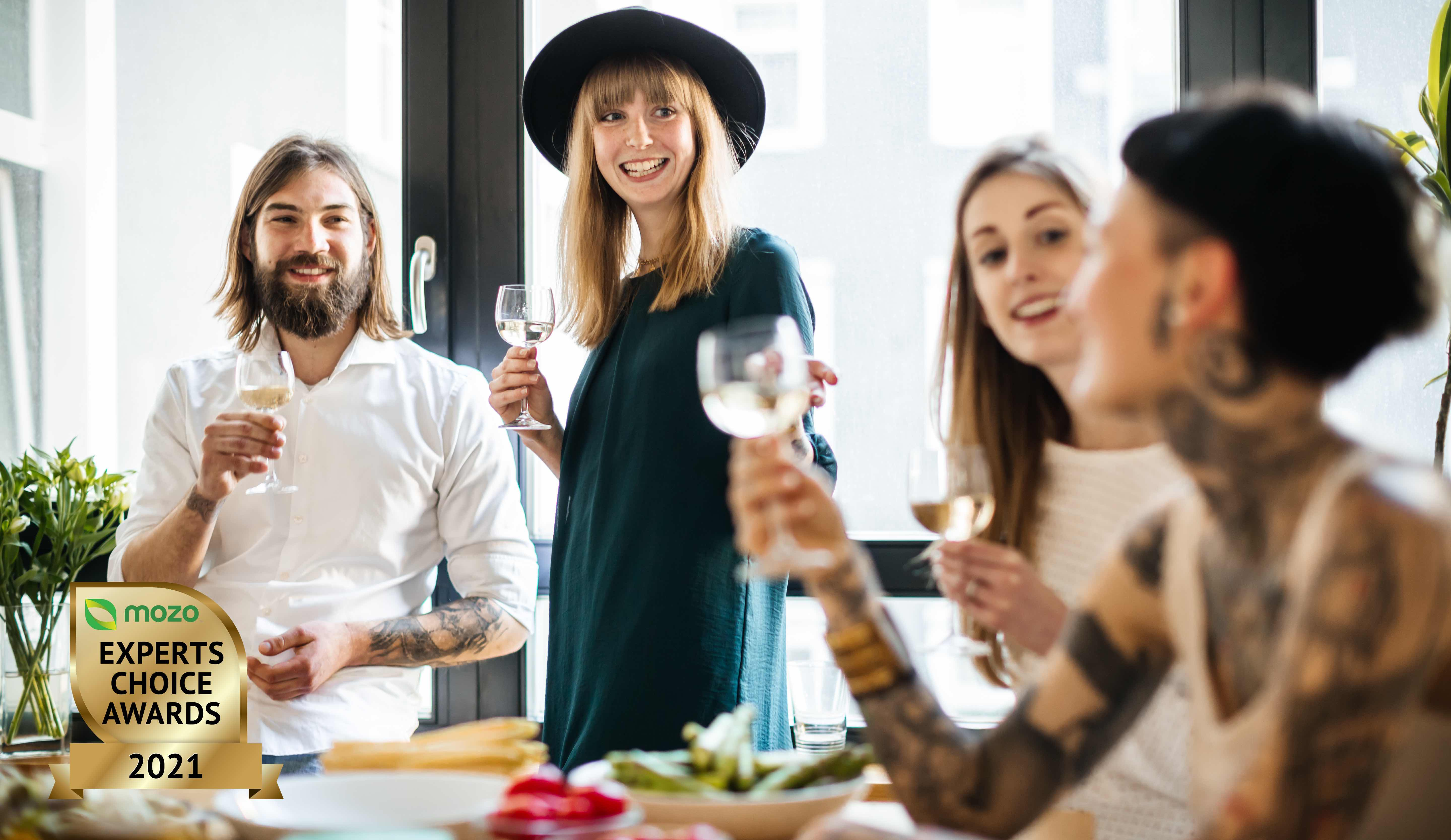 People at a party toasting to the best online alcohol and wine retailers in Australia 2021.