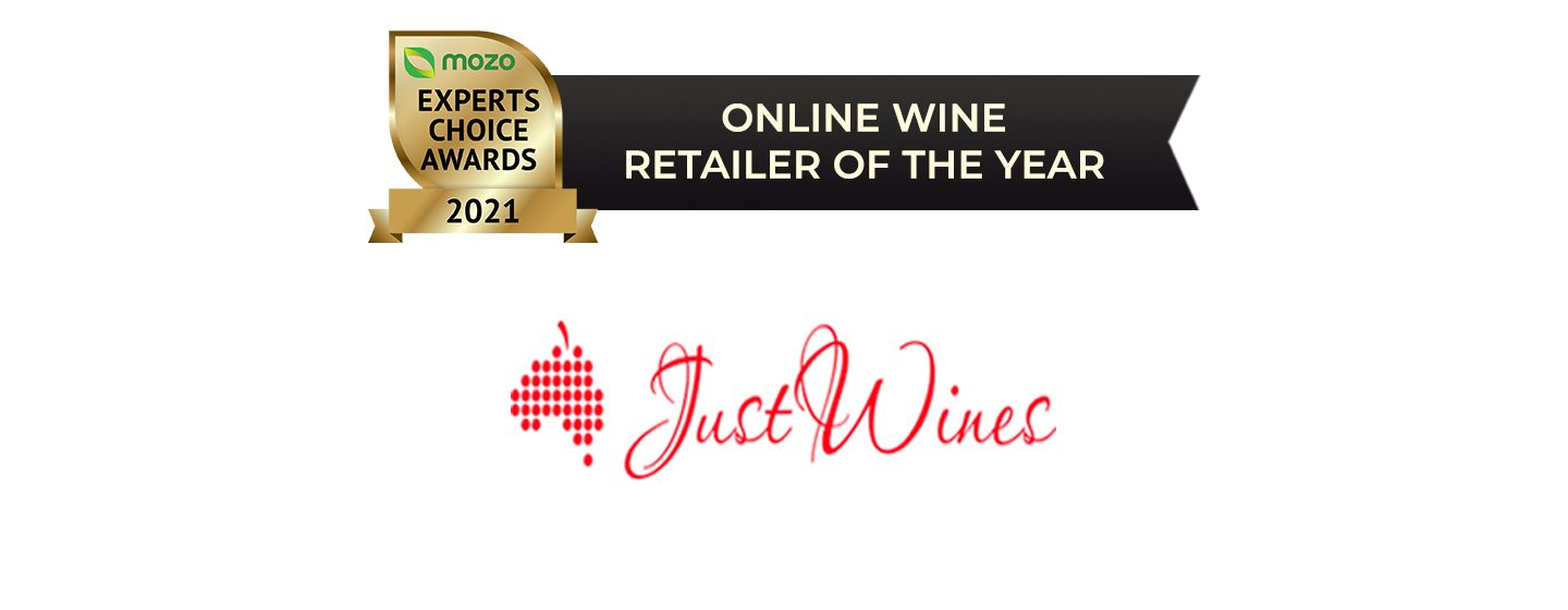 Logo of Just Wines: Winner of the Online Wine Retailer of the Year award.
