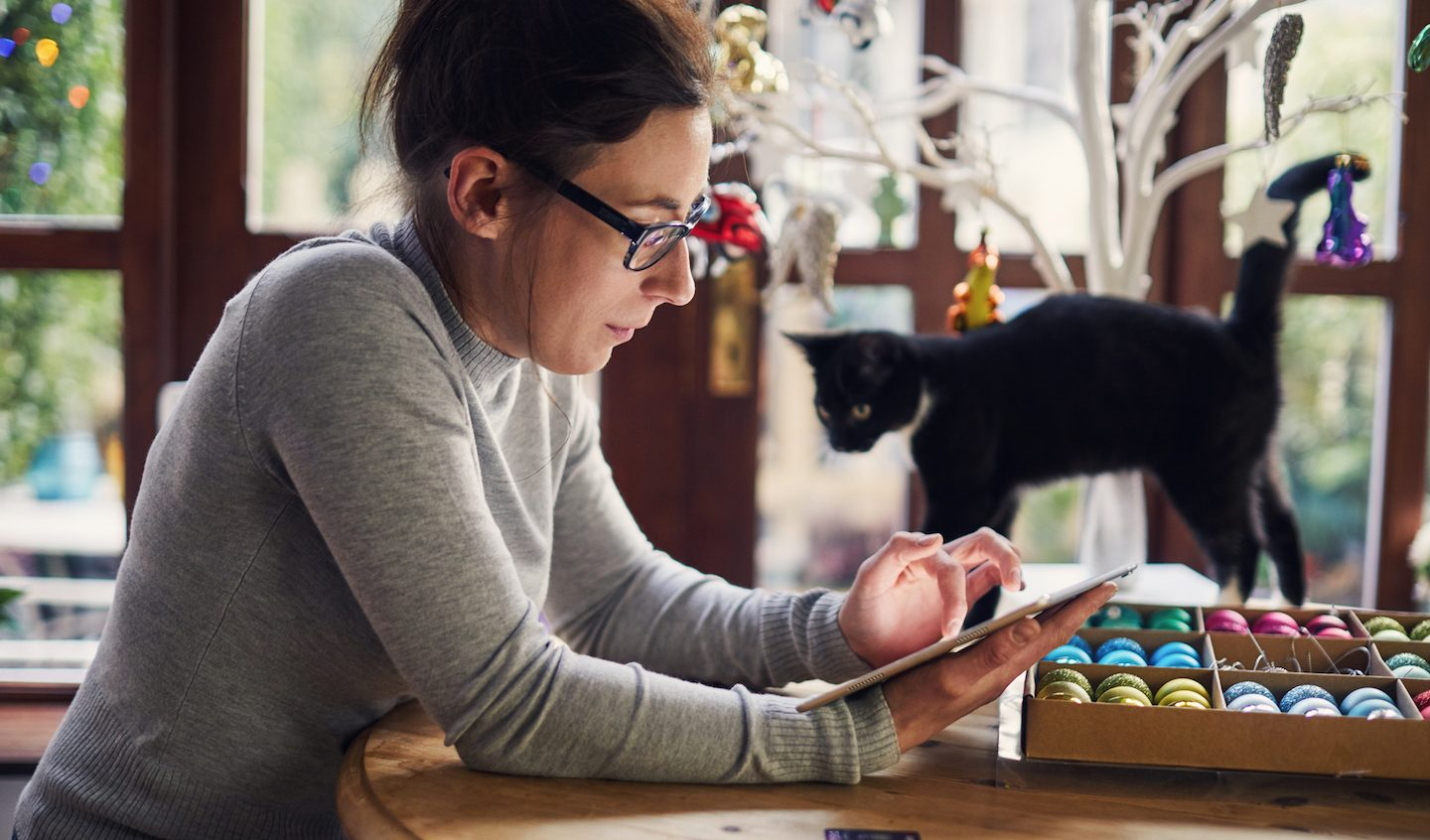 woman using Buy Now Pay Later for Christmas