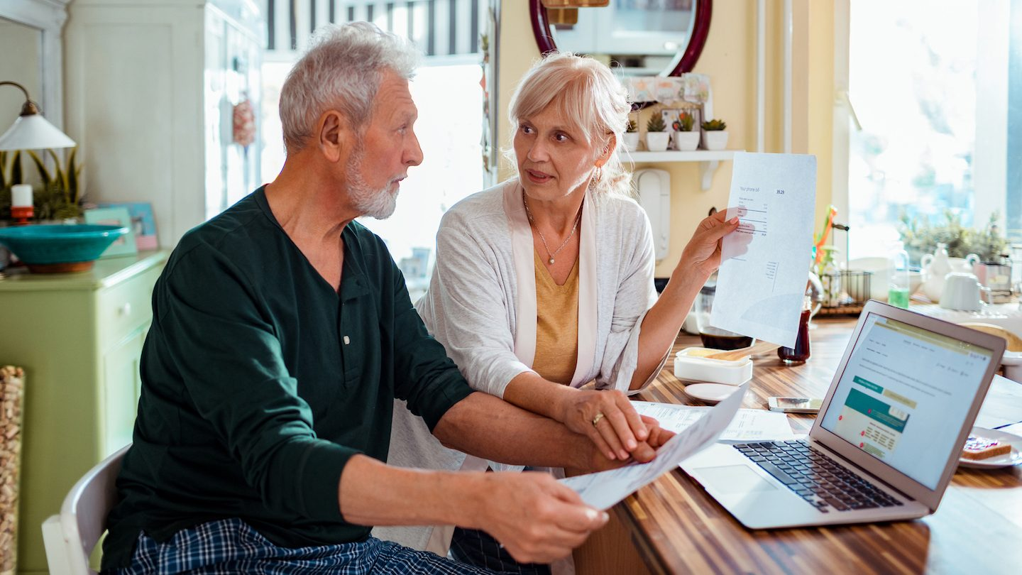 two seniors worried about paying their energy bill