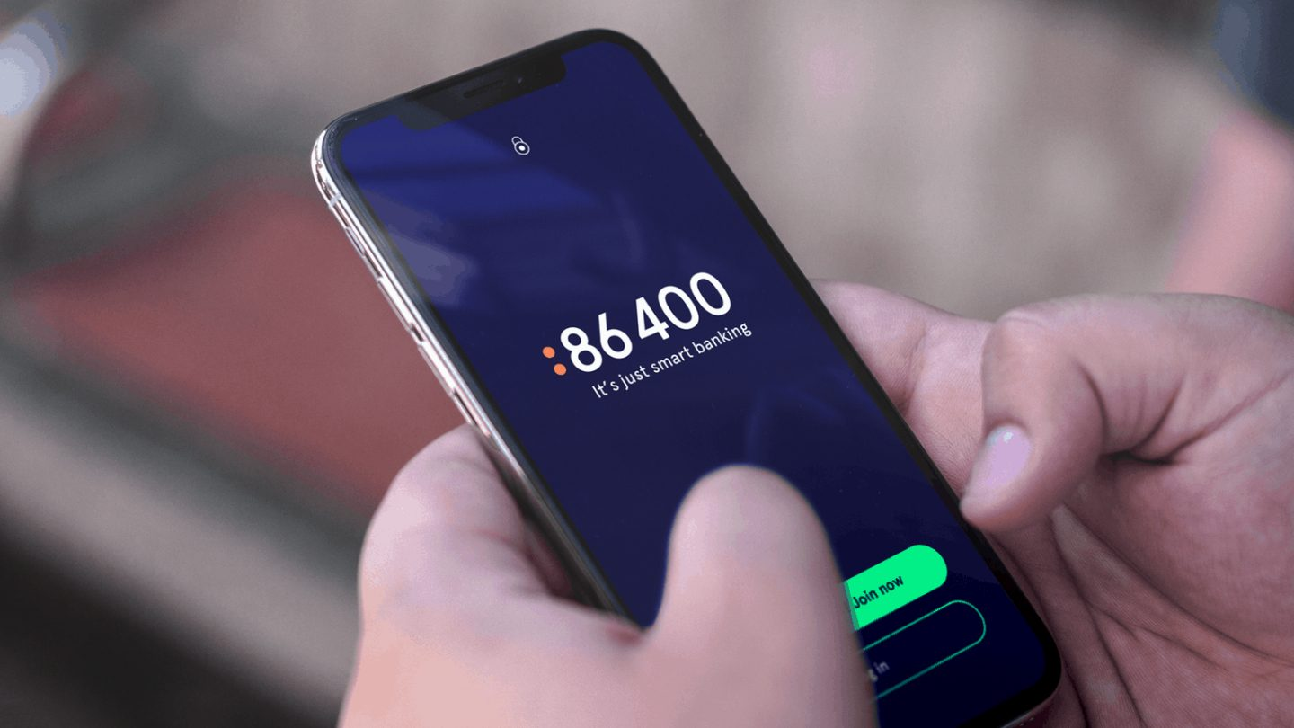The 86 400 mobile app.