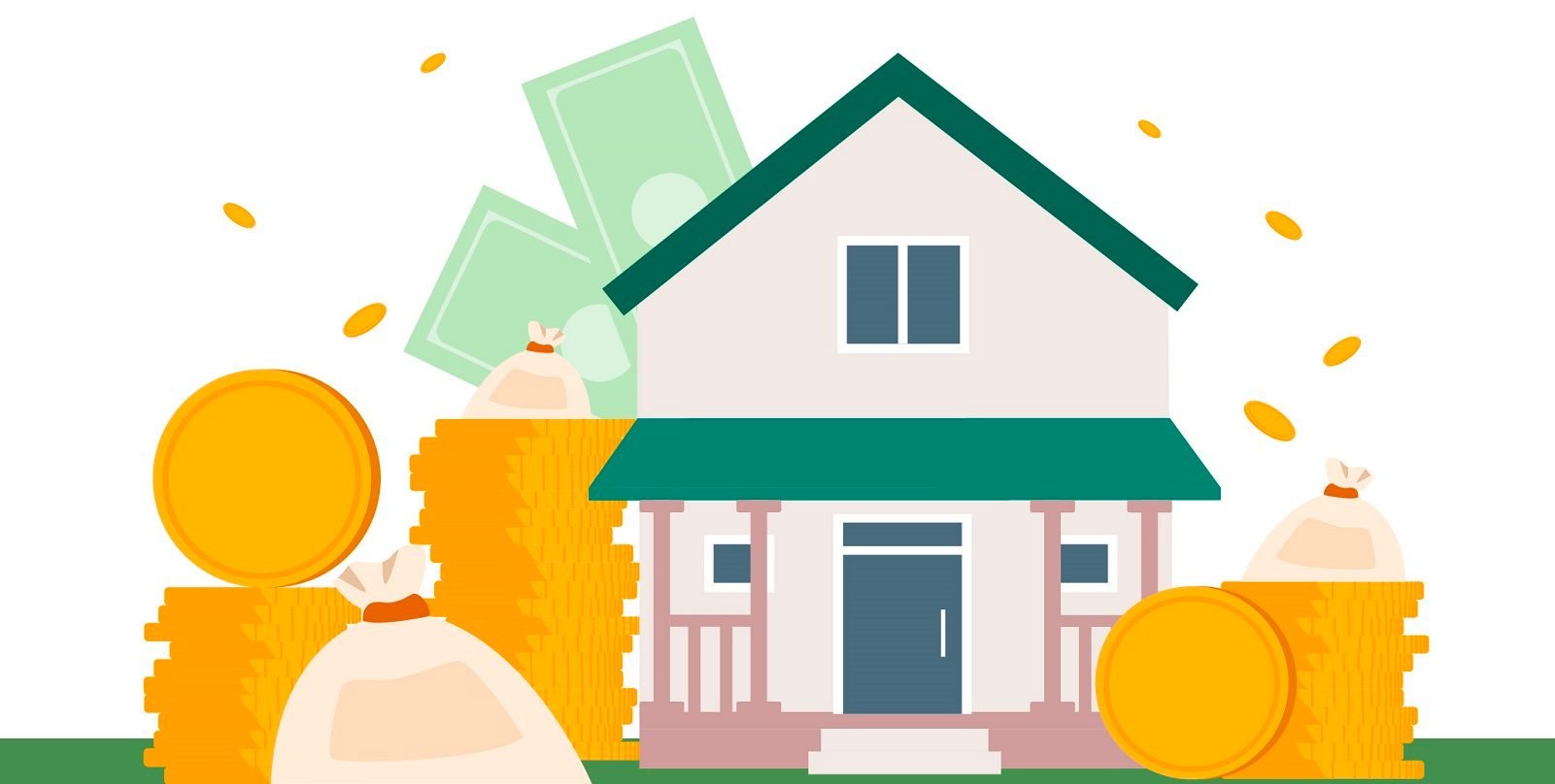 House surrounded by mortgage repayment funds
