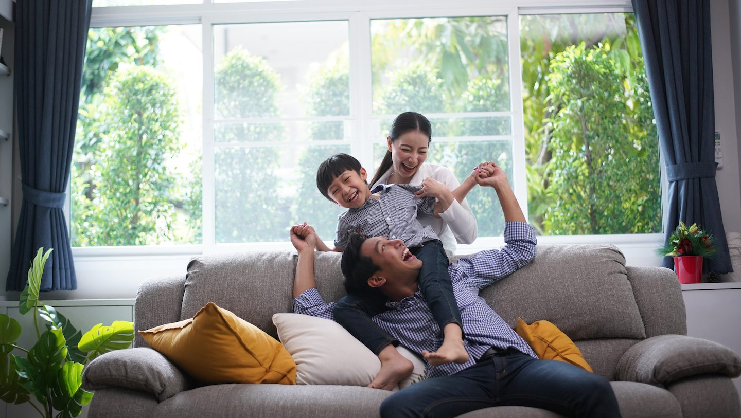 young family happy with growing property sentiment