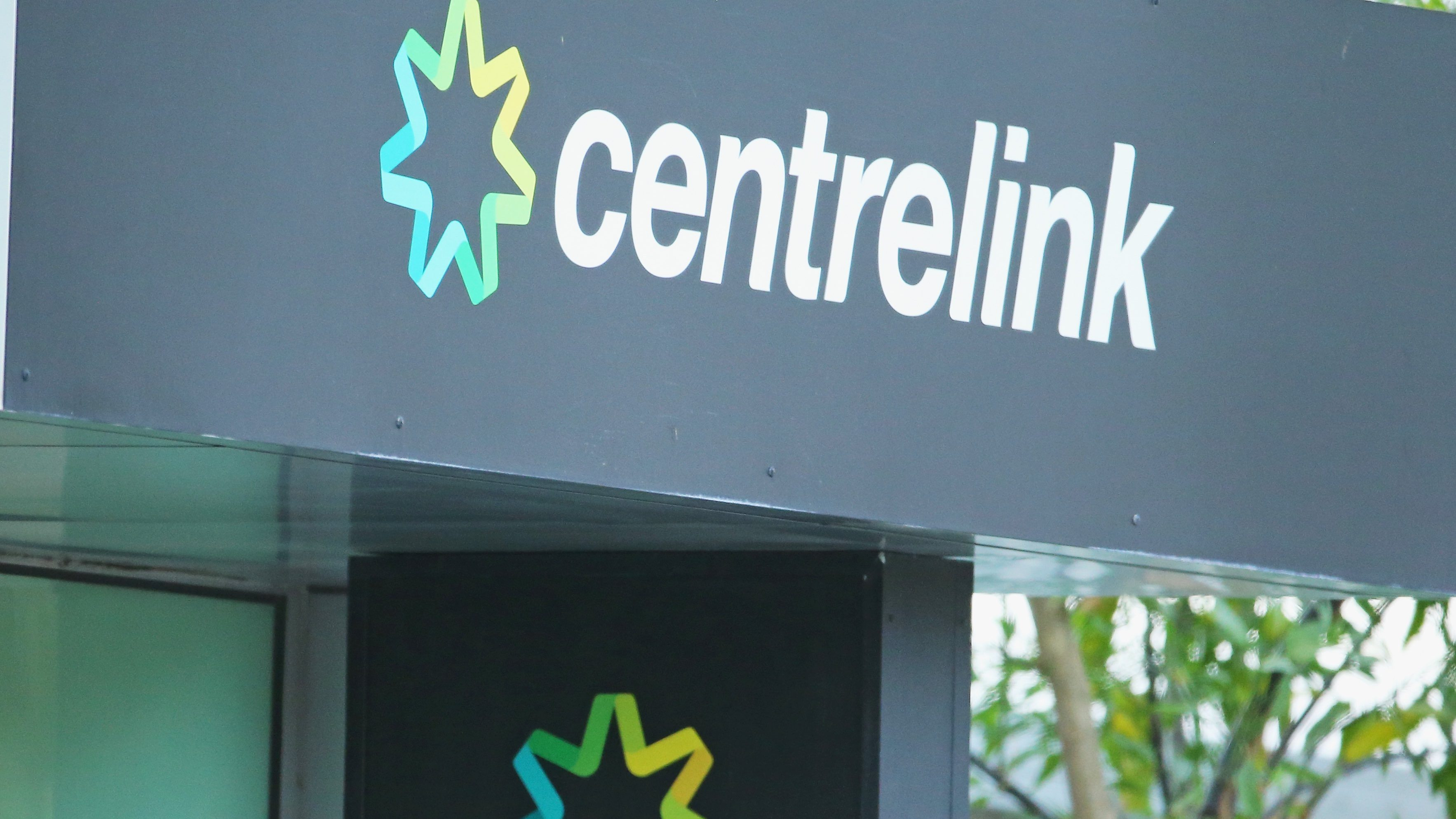 Image of Centrelink's signage as JobSeeker rate changes are announced.
