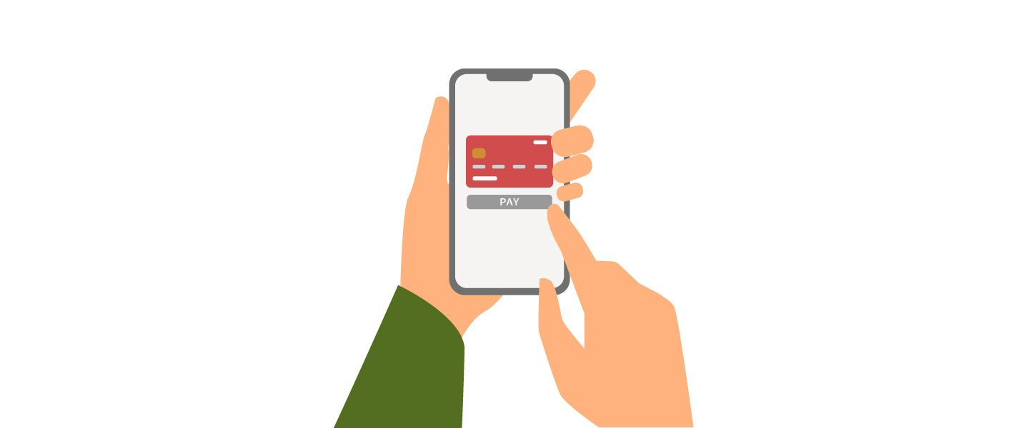 Graphic illustration of mobile phone payments.
