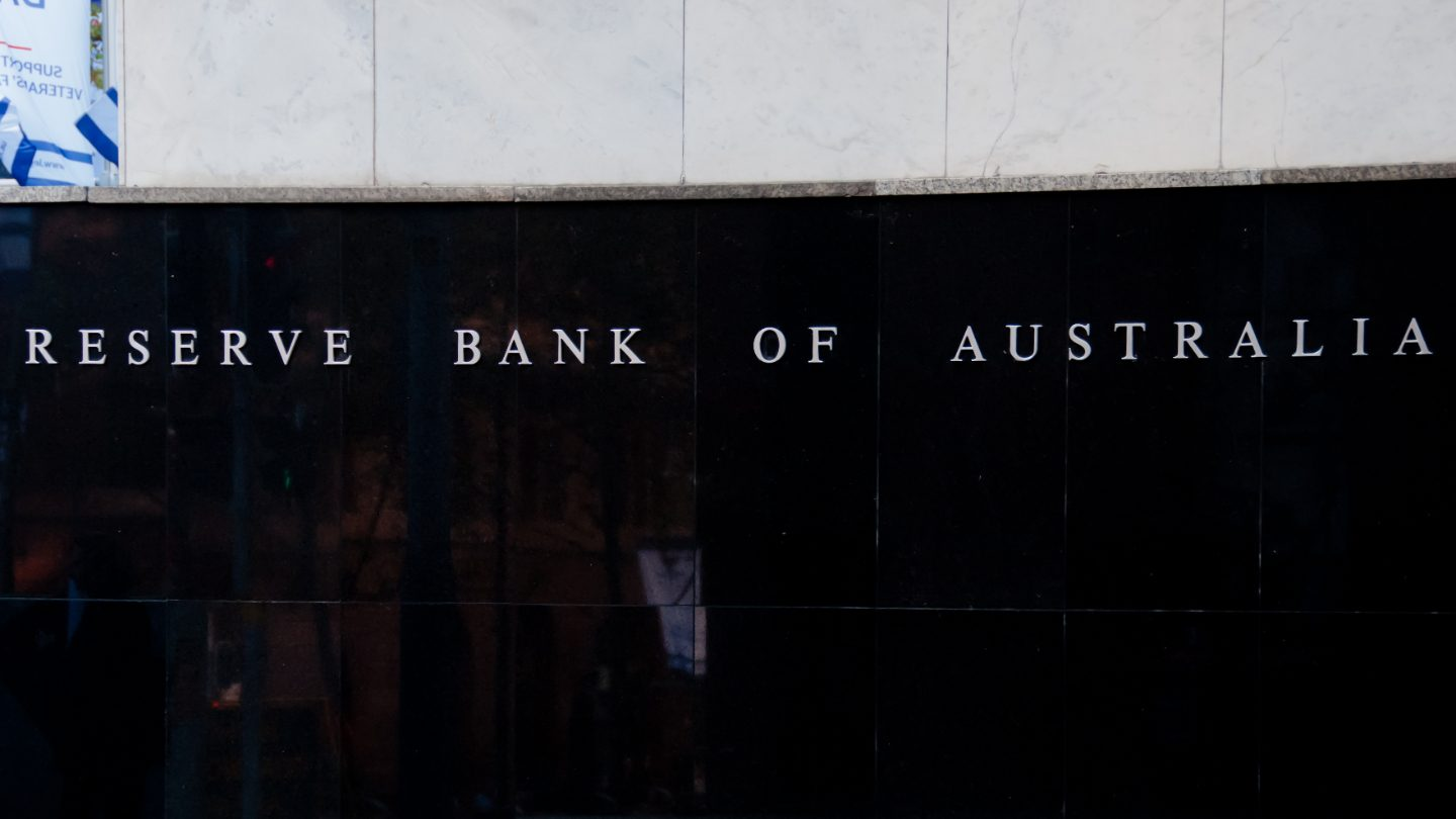 Exterior of the Reserve Bank of Australia building.