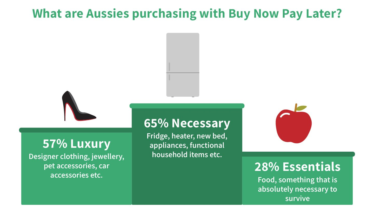 Buy Now Pay Later report graphic: Purchases using Buy Now Pay Later