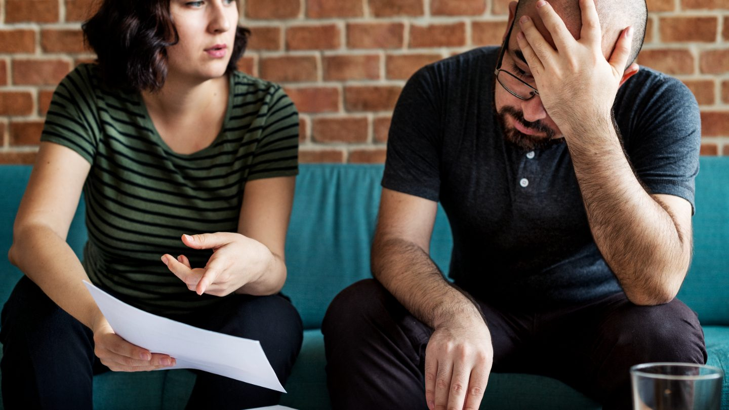 Couple stressing over documents and home loan issues