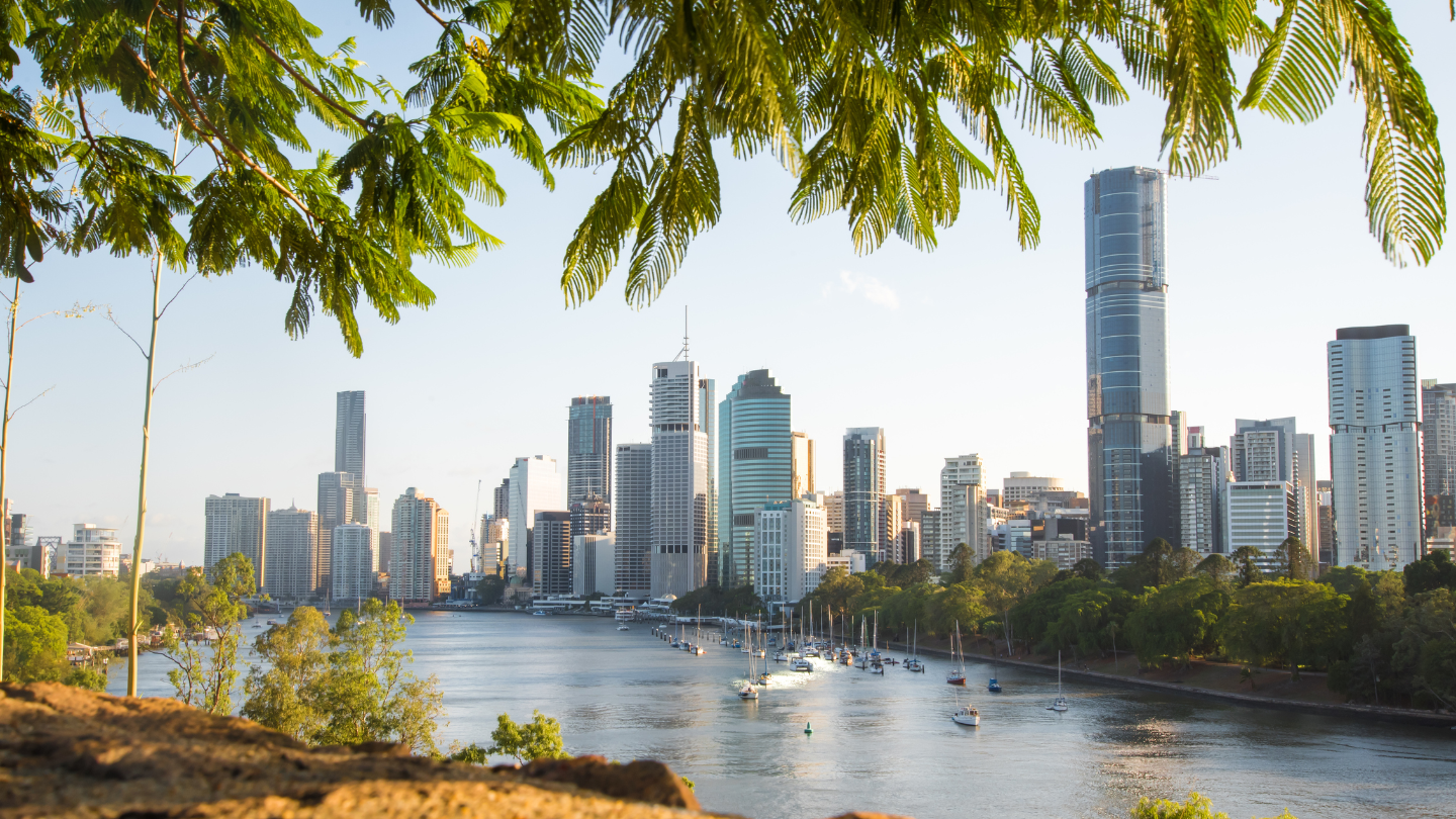 Brisbane cityscape with buildings in the background