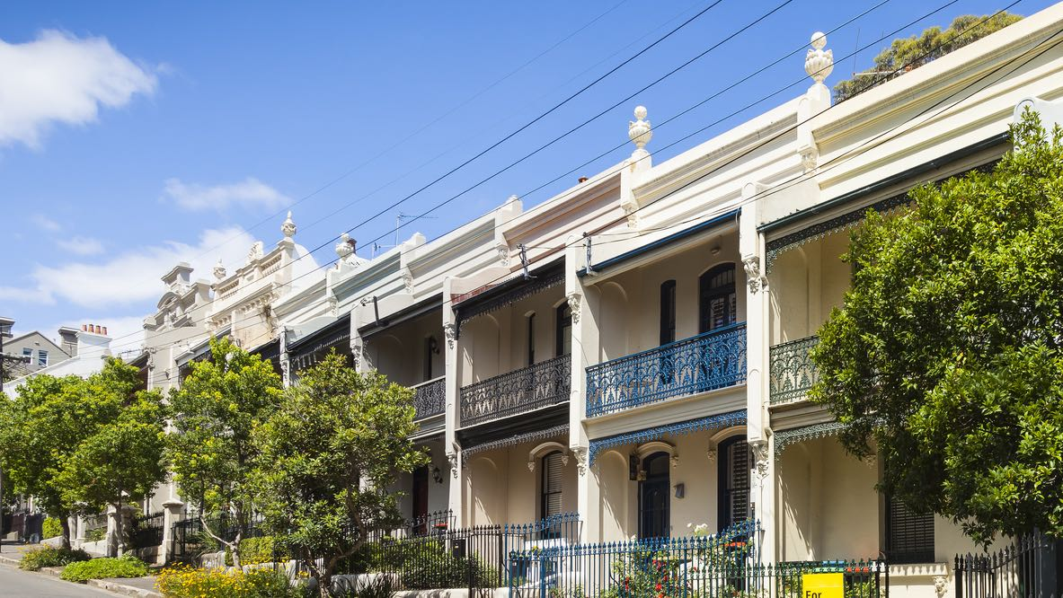 Row of terrace houses for sale as home loan and property price reforms announced.