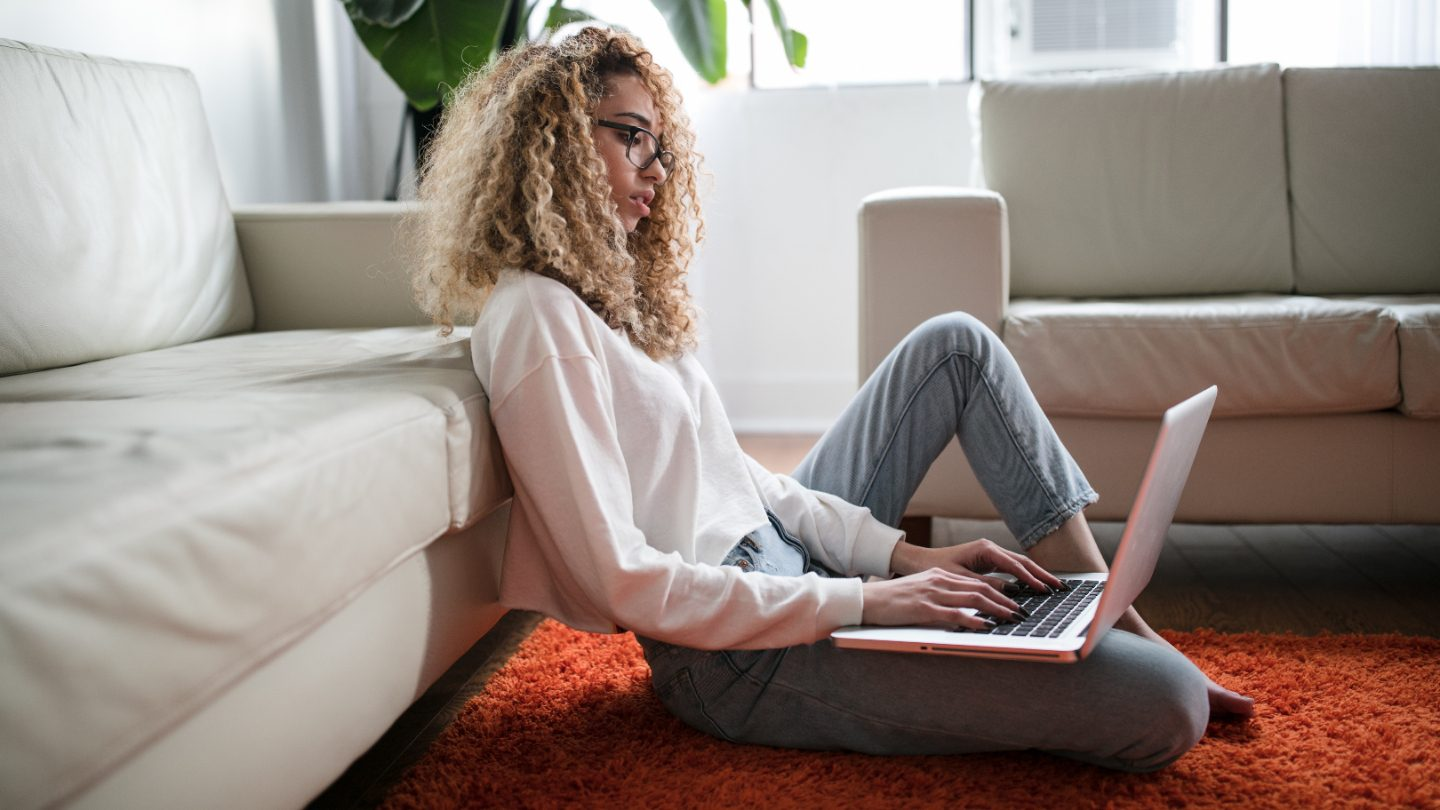 Young woman on laptop.