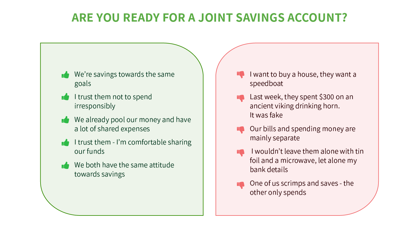 Are you ready for a joint sacings account?